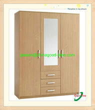 European style melamine chipboard lockable wardrobes