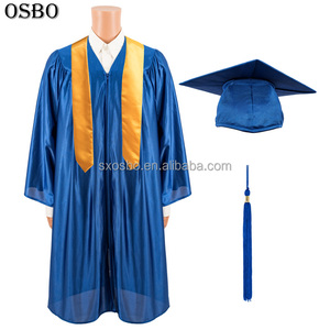 Wholesale customized high quality disposable doctoral graduation gown