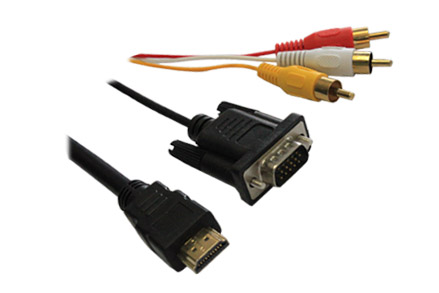 Professional Gold Plated HDMI to VGA + RCA X 3 Cable for device