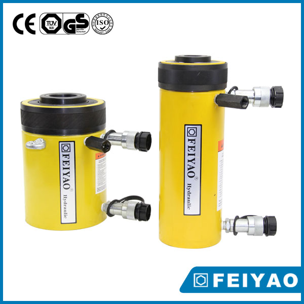 pull push hydraulic jack plunger type hydraulic cylinder hollow jack
