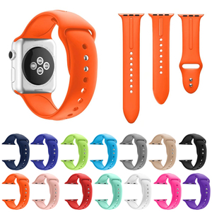 2017 Newest fashion design silicone watch band ,sport silicone watch strap for Apple watch
