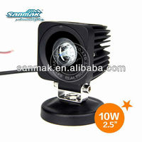 "2.5"" 10W high power cree led truck moto LED working light SM6110"