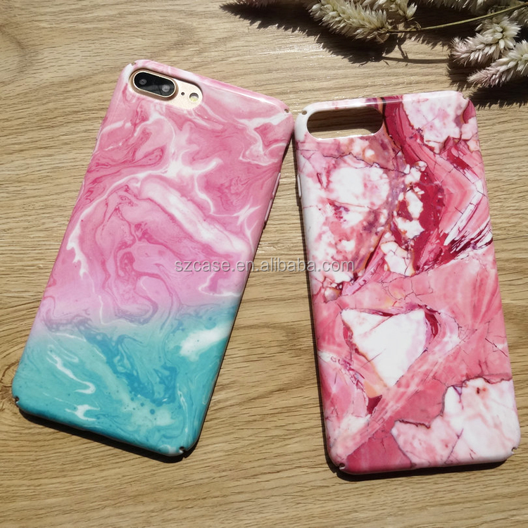 360 Degree Marble Custom IMD Printing Hard PC Cell Phone Case For Iphone 7 OEM Accept