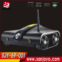 Wifi Control RC Tank Toy with Moving Camera - Controlled by iPhone / iPad / iPod I - Spy RC tank toy SJY-001