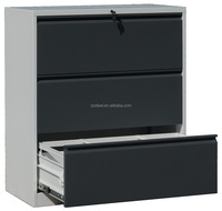 steel lateral filing cabinet, storage cabinet with 3 drawers, high quality filing cabinet