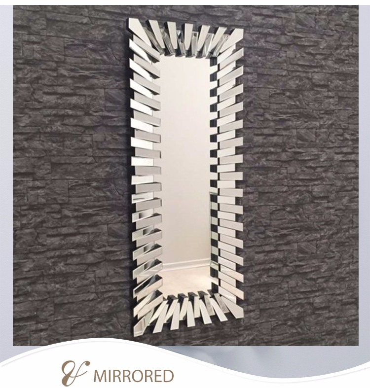 Home decorative 3d full length floor large mirror stand for Decorative floor length mirrors