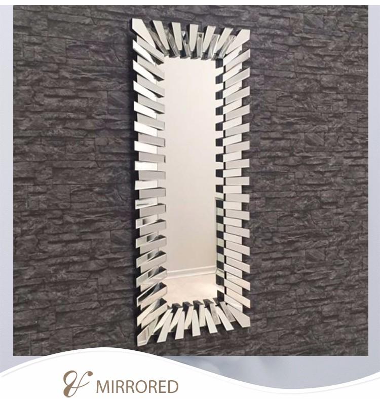 Home decorative 3d full length floor large mirror stand for Decorative floor length mirrors