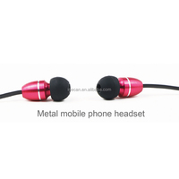 Fashion metal in-ear earphones for girls
