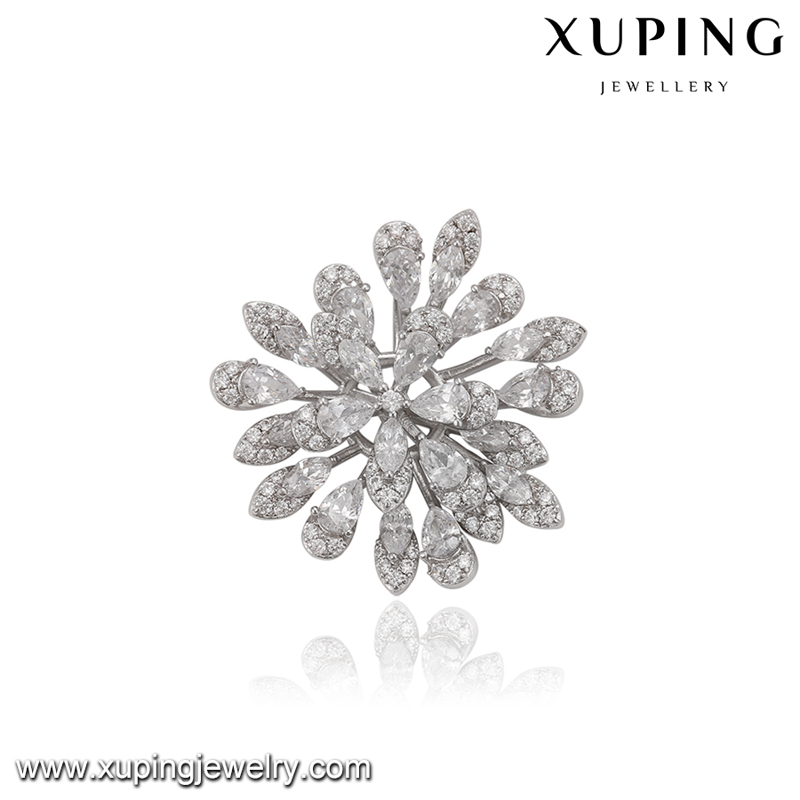 pendant-33 XUPING snowflake diamond pendant, Luxury banquet Accessories latest design saudi white gold jewelry
