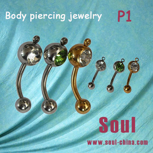 New design fake industrial piercing jewelry