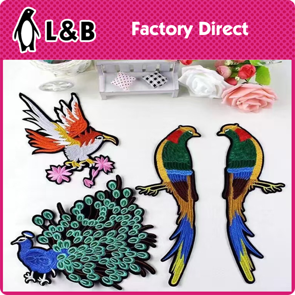 New Design Of Birds Embroidered Iron on Patch Wholesale Applique Patches