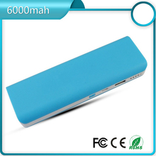ABS plastic protable mobile charger power bank 6600 mAh