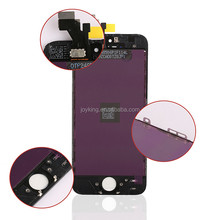 Black and white Full Front Touch Screen Digitizer LCD Display Repair Assembly for iPhone 5 screen