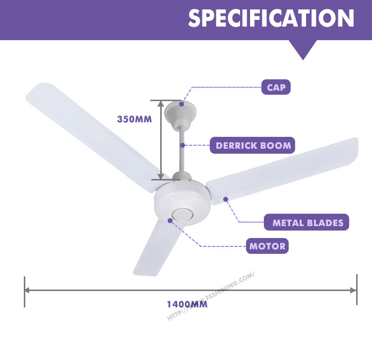 Factory electronics aluminum blade air cool ceiling fan
