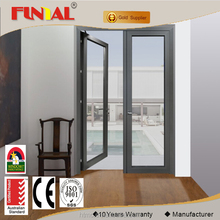 Hongtai factory customized Australia standard aluminum casement doors with frosted glass