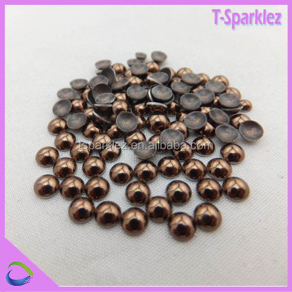 China factory wholesale hot fix copper stud weld half round head dome studs