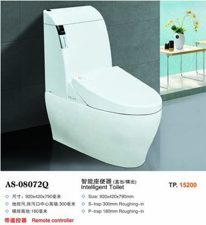 chinese white colored one piece ceramic toilet plunger
