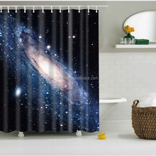 Cool Shining Stars Space Universe Customize Design Waterproof Shower Curtain
