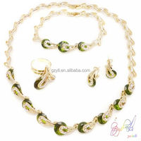 fashion hong kong jewelry wholesale Fashion dubai Gold plated jewelry set guangzhou jewelry set