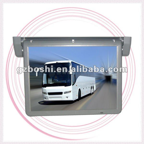 Super Full Automatic 19Inch Flip Down Bus Monitor