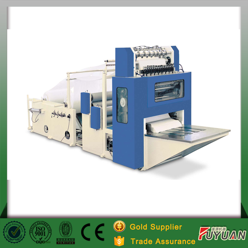 alibaba golden supplier full automatic V-folded hand towel paper machine