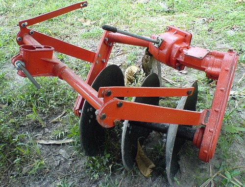 GN12 walking tractor implement disc plow