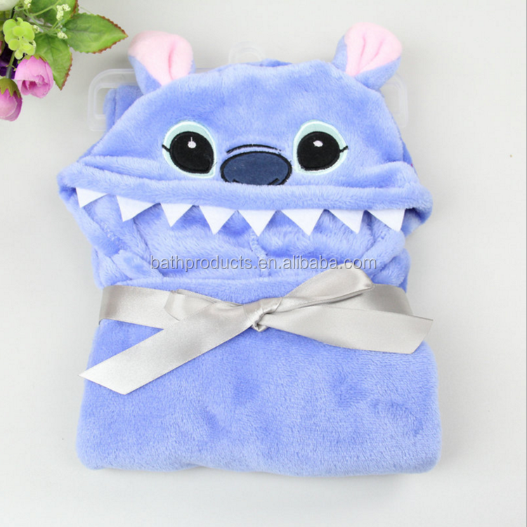 wholesale cotton animal Embroidery terry fancy baby bathrobe