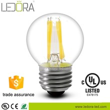 CE Rohs ErP certificate 2w 4w 6w 220v G45 E27 screw base led light bulb