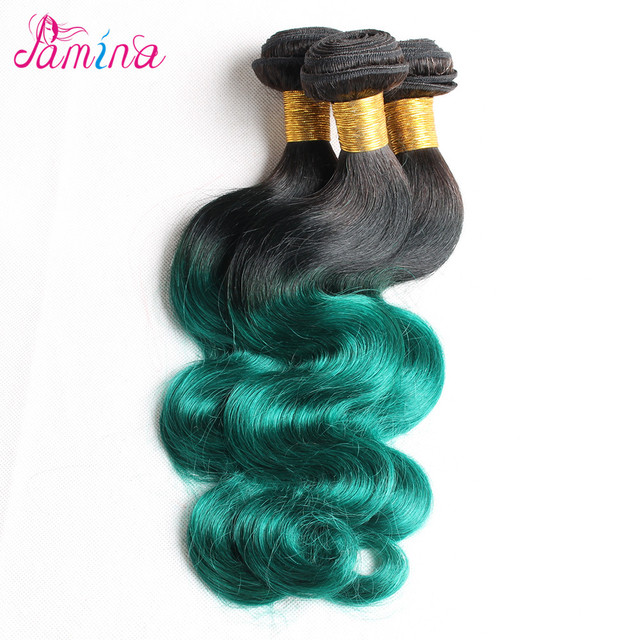 Outre Simply Unprocessed Hair Virgin Brazilian Body Wave Two Tone Ombre Colored Hair Weave Bundles