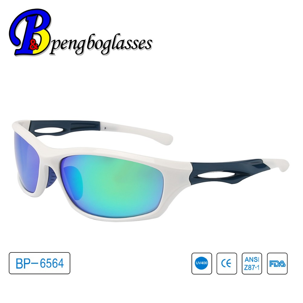 Latest design Blue plating glasses for sports