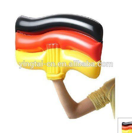 2017 hot sales PVC cheap hand Germany color inflatable hand/cheering game giant pvc inflatable hand/inflatable hand