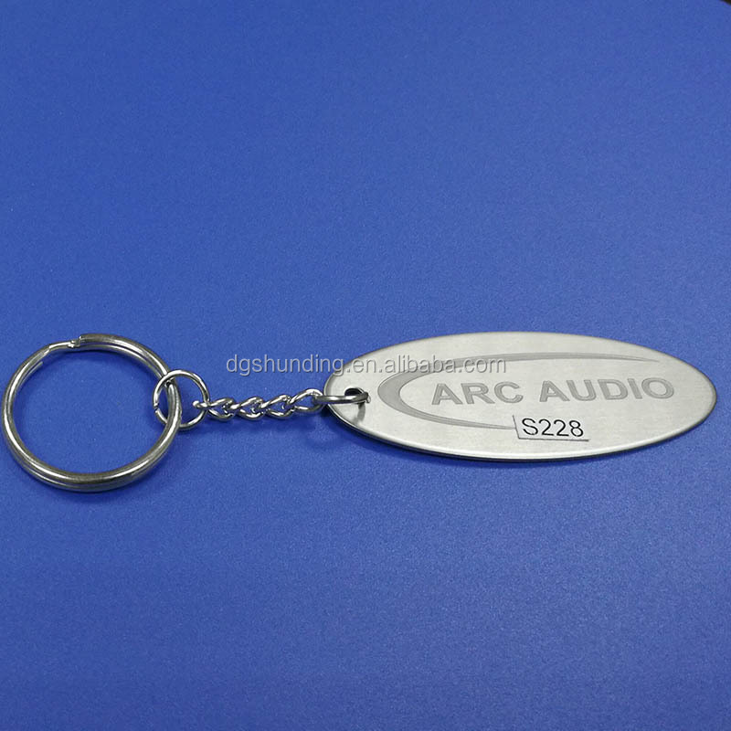 custom making oval shape zinc alloy soft enamel key tags