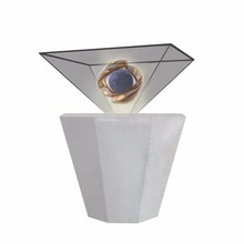 High Definition Holographic Coating Holographic Display 3d Pyramid