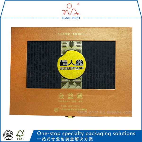 Guangzhou wooden packing box packaging box golden color wooden gift box popular style in dubai