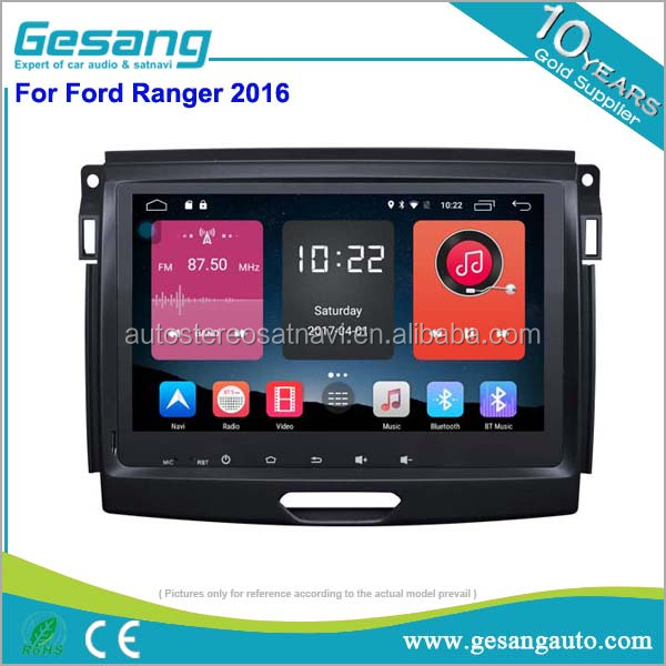2 din car radio Android 6.0 car dvd support 4g/wifi/tpms/obd for Ford Ranger 2016