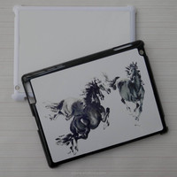 Hard plastic sublimation case for ipad 2/3/4
