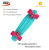 Factory 22 inch plastic skateboard colorful cruiser skateboard