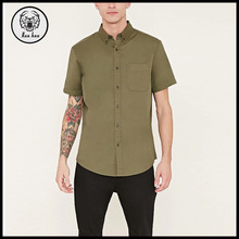 Man Clothing Button-Collar Shirt With Pocket Bangladesh Clothing