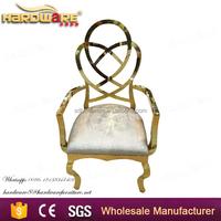 best price luxury golden metal arm dining chair