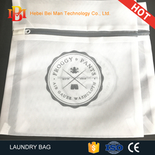 Hot sale amazon cheap mesh laundry bag with logo printed