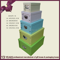 Newest paper craft cardboard storage packaging box
