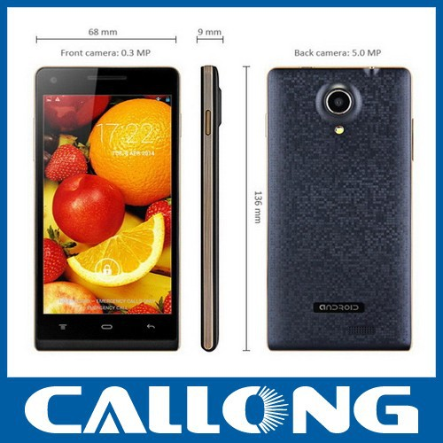 ZOYO C5000 4.7 inches MTK6572 dual core dual SIM android cell phone China 3G mobile phone
