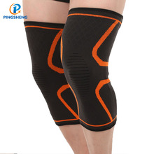 Magnetic Neoprene Pressure Knitted Thin Copper Breathable Nylon Knee Support Sleeve