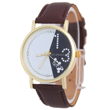 New arrival cheap custom logo quemex watches with elegant black dial