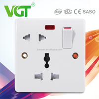 selected materials Bangladesh 13A switch functional and 16A 2 pin socket with neon
