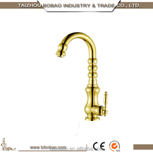 Shopping Websites kitchen Wares Top Quality Single Handle Gold Sink Water Taps