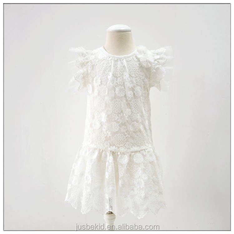 Lace Dress Design Children Casual Mini Dress For Kids Dresses