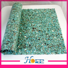 24*40cm aquamarine color crystal rhinestone stones mesh hotfix for clothing
