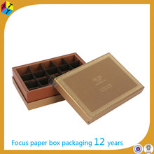 high-end custom packaging recycled edible chocolate box