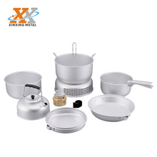 2018 Portable Camping Kitchen Equipment Outdoor Aluminum Cookware Set